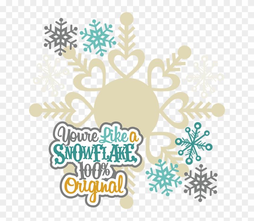 Clipart Snowflake Flourishes.