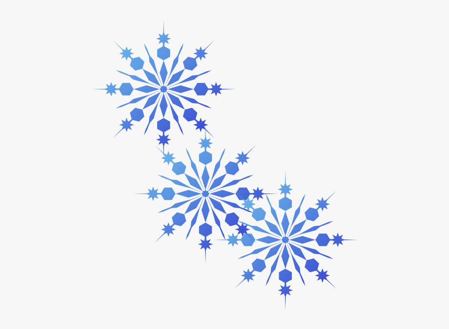 Blue Snowflake Png.