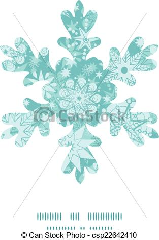 Vector Clip Art of Vector decorative frost Christmas snowflake.