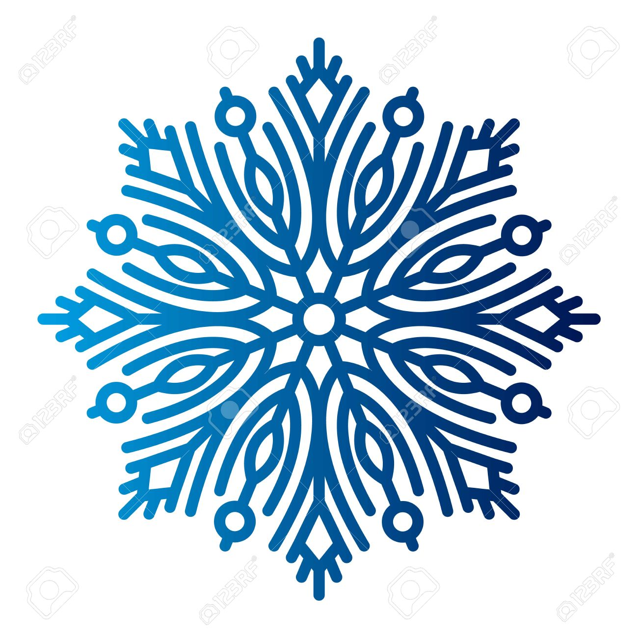 Snowflake Vector Illustration And Season Nature Winter Sign Symbol.