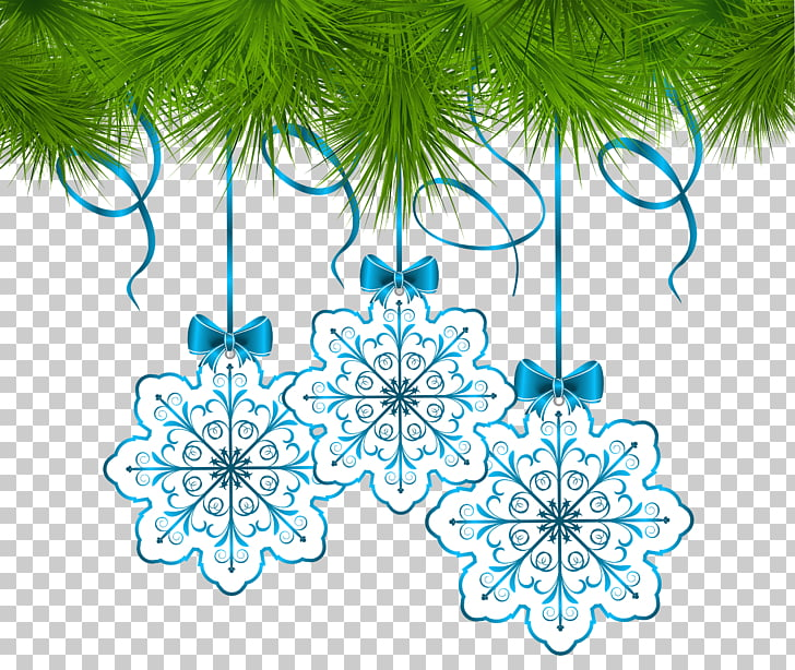 Christmas ornament Snowflake , garland PNG clipart.
