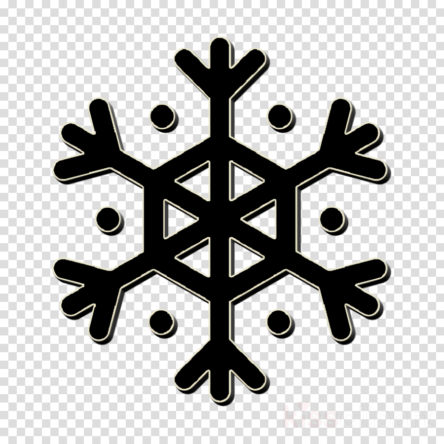 Snow icon Snowflake icon Weather icon clipart.
