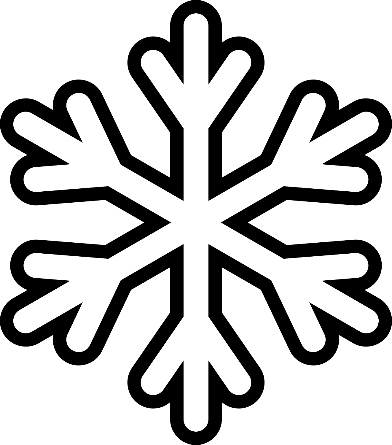 Library of svg snowflake clip art png files ▻▻▻ Clipart.