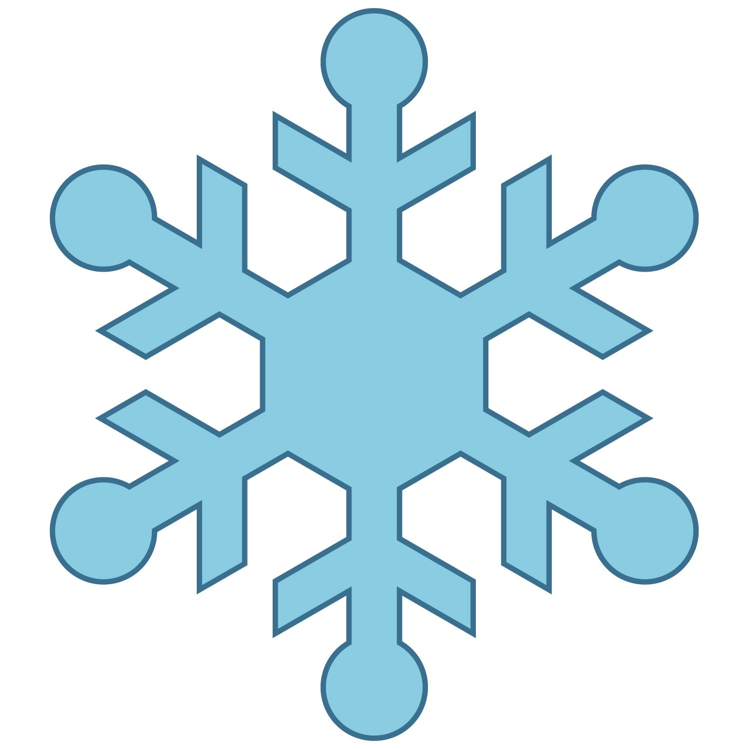 4041 Snowflakes free clipart.