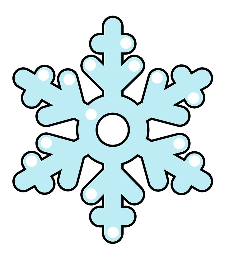 Red Snowflake Clipart.