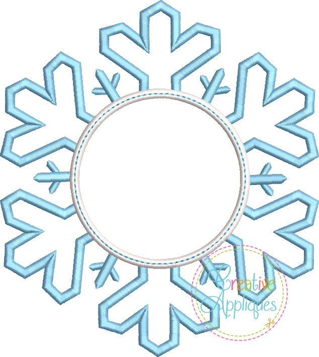 Snowflake Monogram Applique.