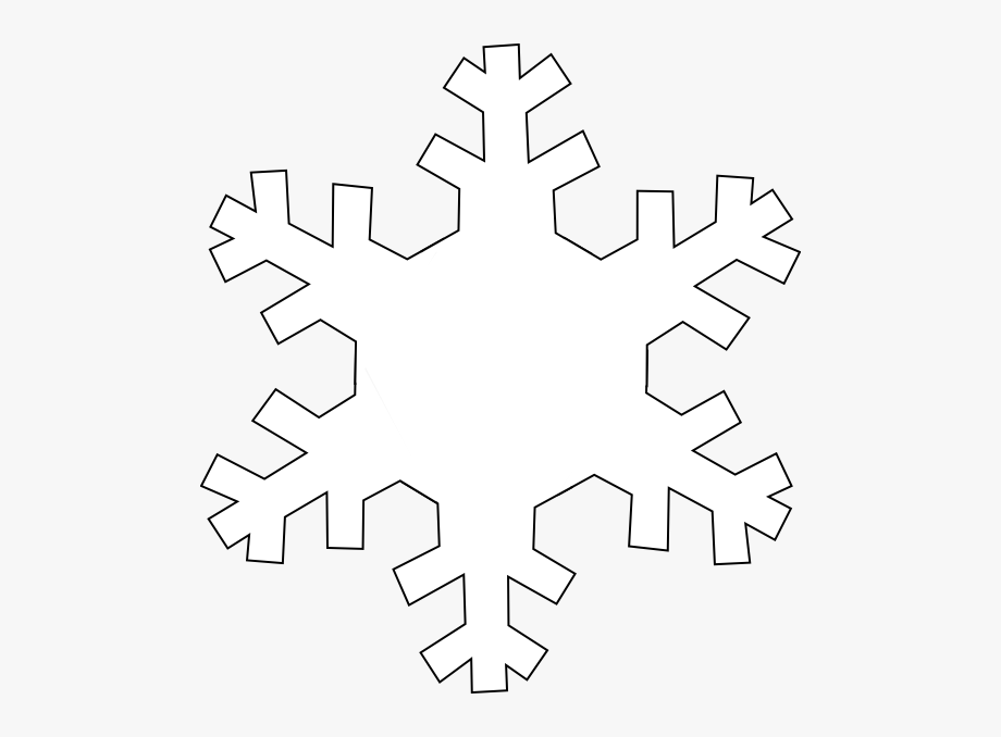 Snowflake Outline Clip Art.