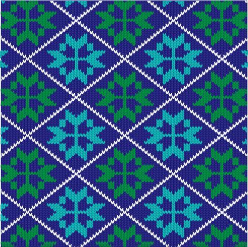 knit nordic snowflake pattern.
