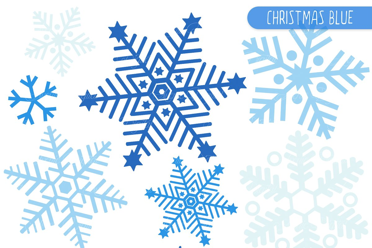 Blue Snowflake Clipart and Vectros.