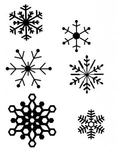 """Chalkboard Snowflakes ClipArt """"SNOWFLAKES SHIHOUETTE """" ,christmas."""