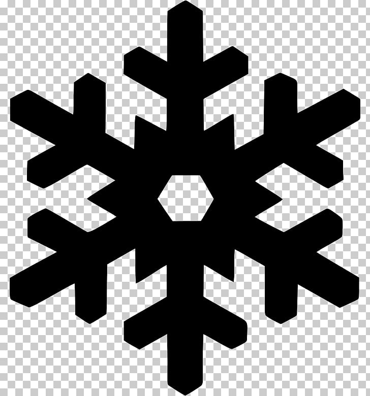 Snowflake Silhouette , Snowflake PNG clipart.