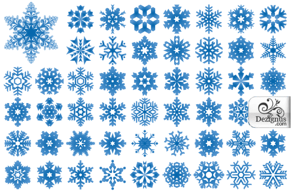 Free Free Vector Snowflakes Illustrator and Photoshop Shapes.