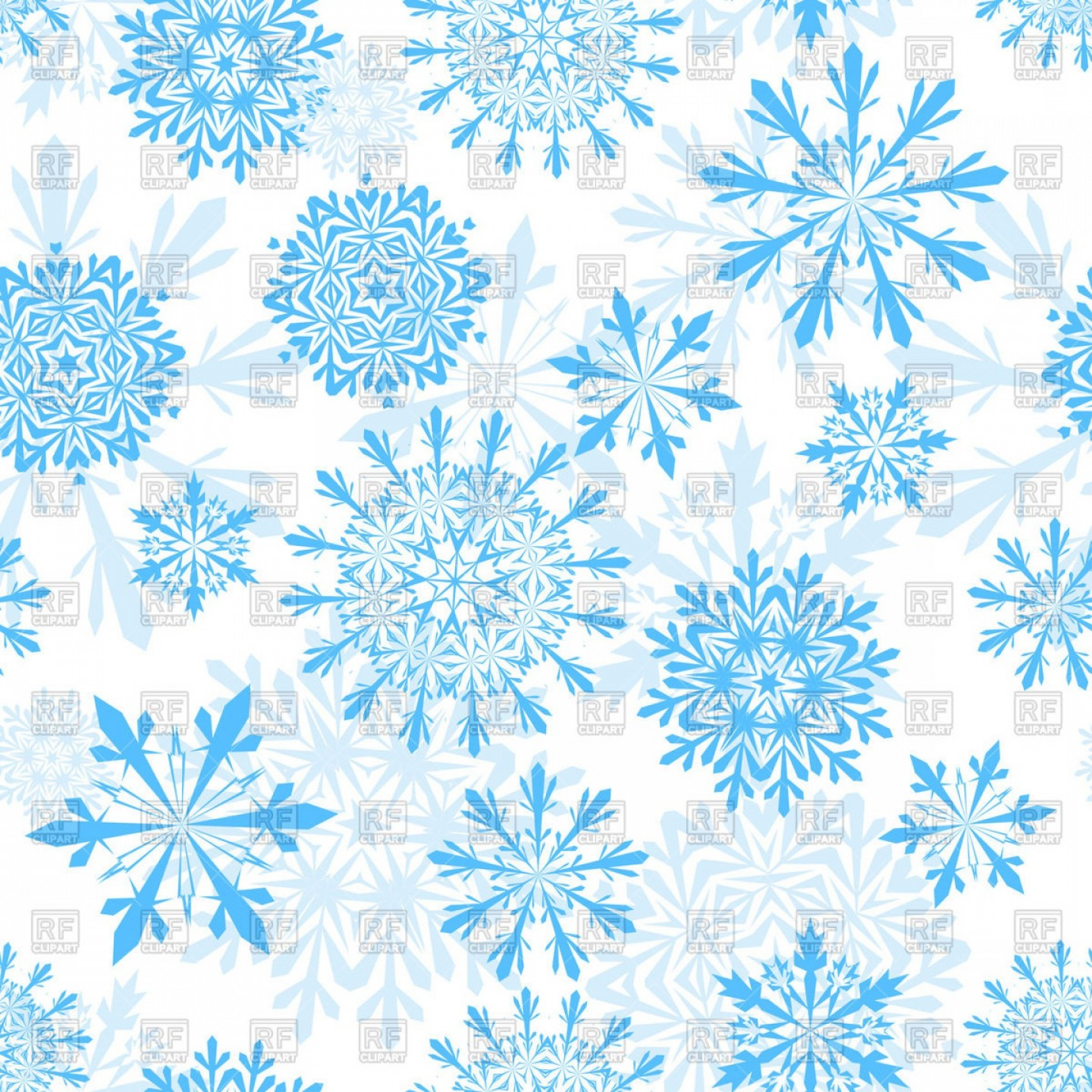 Free Snowflake Background Clipart Seamless Winter Background.