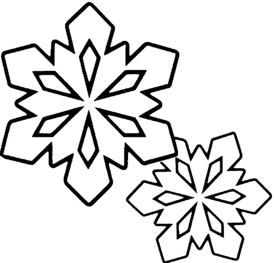 Snowflake Winter Clipart Black And White.