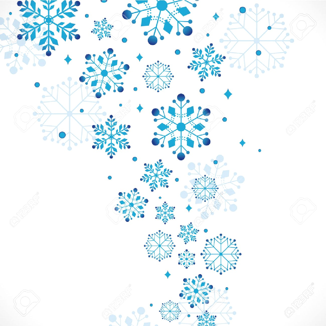 Snowflakes clipart borders 2 » Clipart Station.