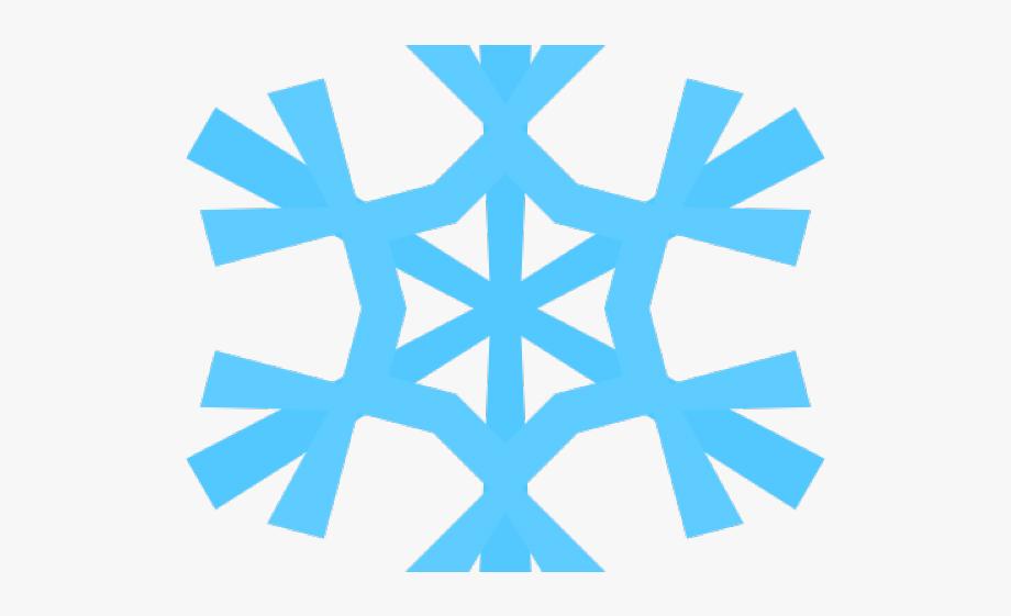 Snowflake Clipart Aqua.