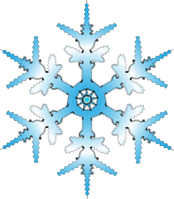Snowflakes free clipart 6 » Clipart Station.