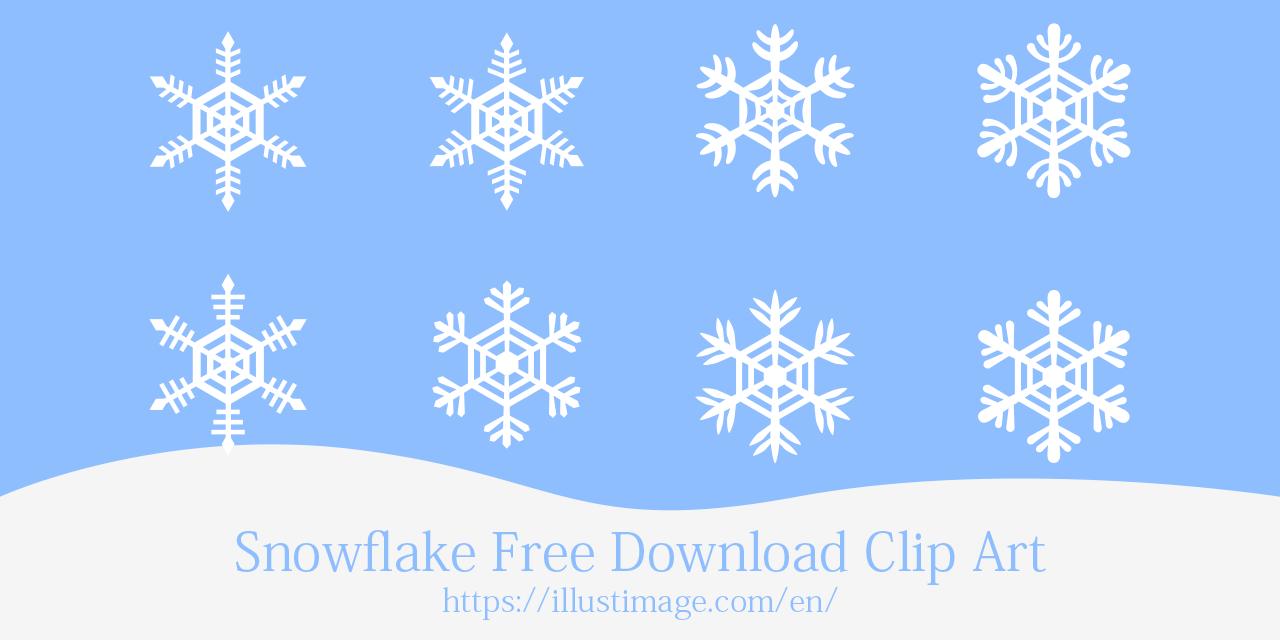 Free Snowflake Clip Art & Graphic Design|Illustoon.