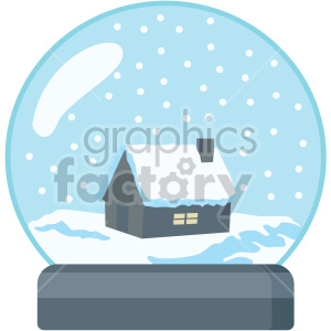 snowglobe no background clipart. Royalty.