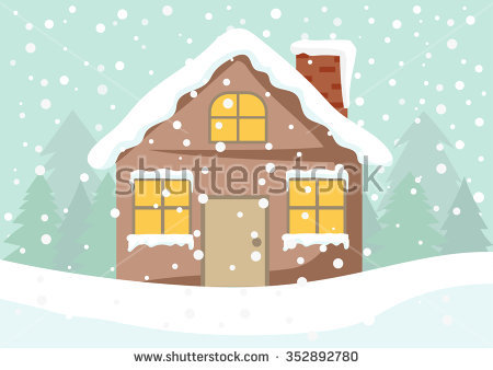 Snow House Stock Images, Royalty.