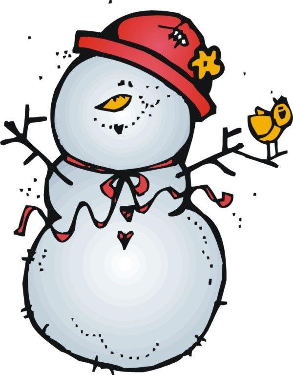 Snowman Border Clipart.