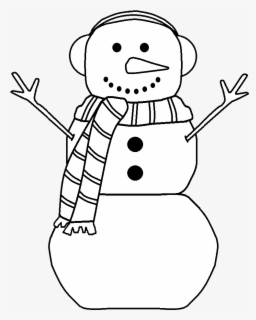 Free Snowman Hat Black And White Clip Art with No Background.