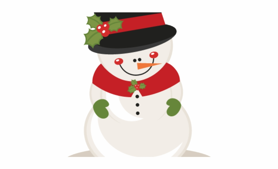 Snowman Cute Christmas Clipart.