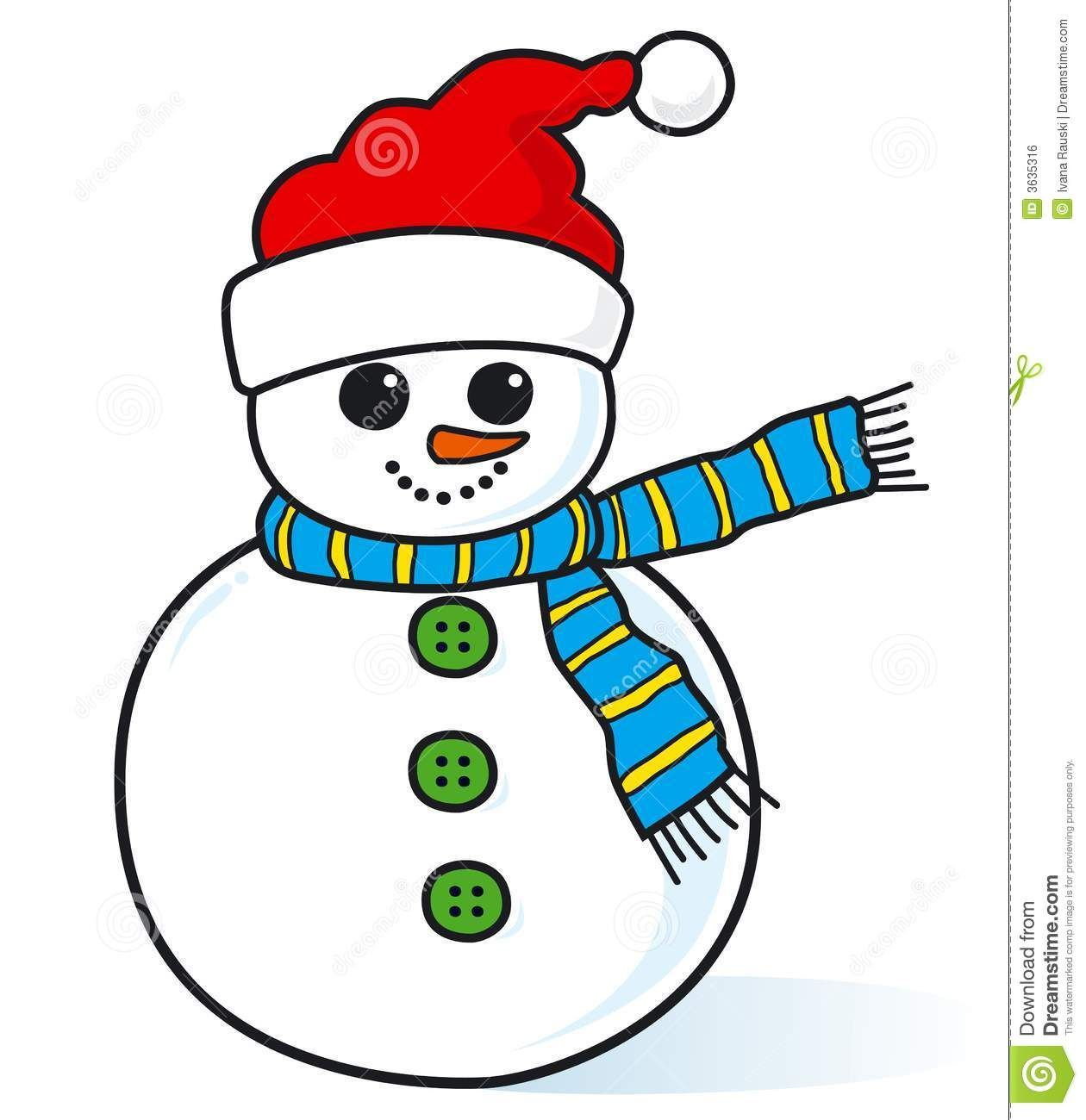 Small Country Snowman Clipart.