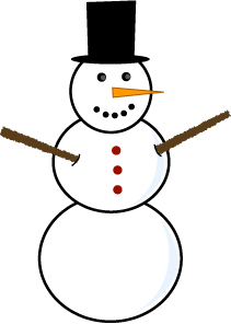 Free snowman clipart images.