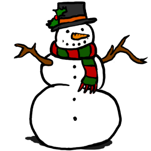 Snowman Clipart Border.