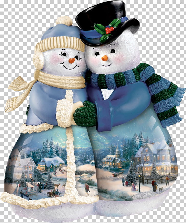 Santa Claus Figurine Snowman Sculpture, Bear couple PNG.