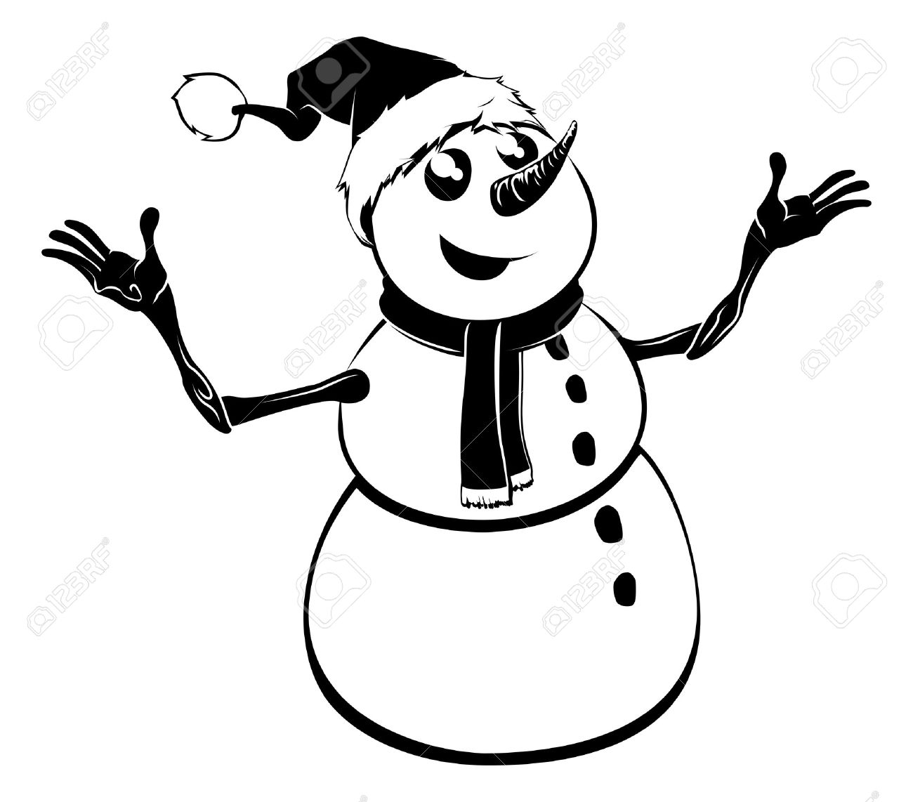 5,190 Snowman Face Stock Vector Illustration And Royalty Free.