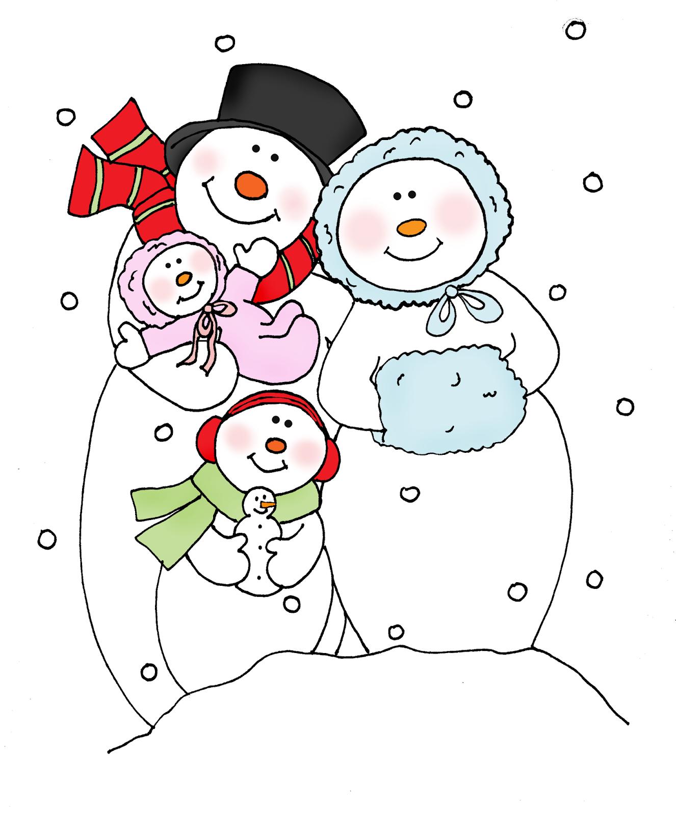 77+ Snowman Family Clipart.