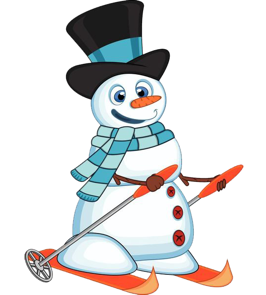 Download Snowman Skiing Free Clipart HQ HQ PNG Image.