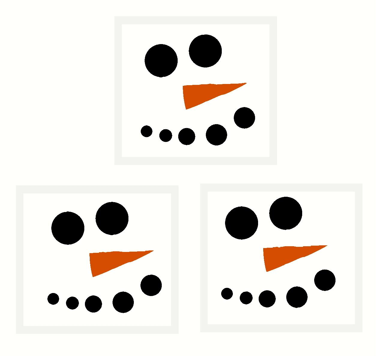 Snowman Eyes Clipart.