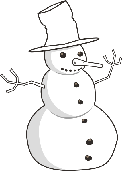 Snowman Outline Clip Art at Clker.com.