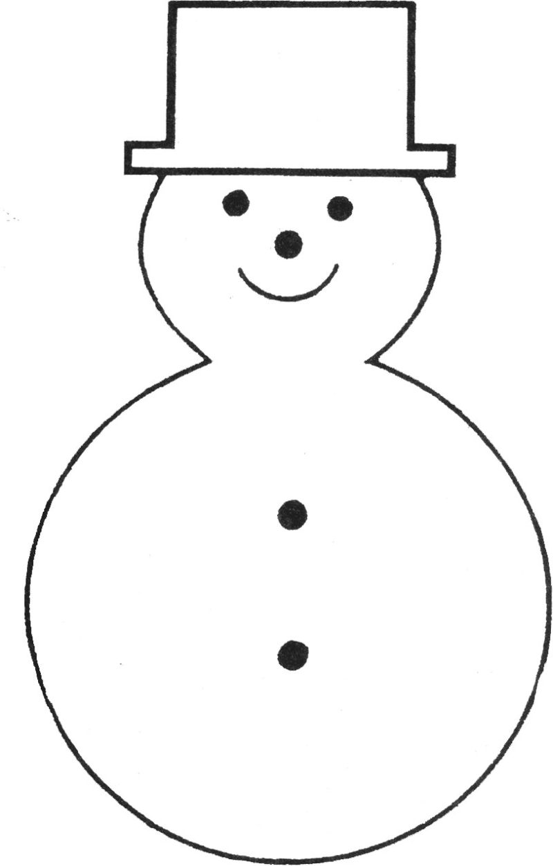 Snowman Outline Clipart 20 Free Cliparts Download Images
