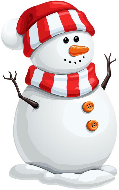 13868 Snowman free clipart.