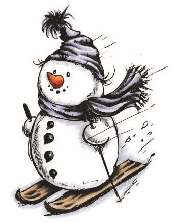 Snowman Skiing 963.