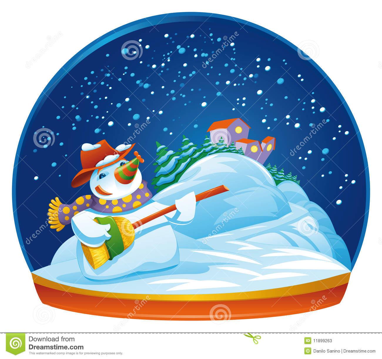 Snowman Snow Globe Stock Photos.