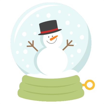 Snow Globe SVG scrapbook title winter svg cut file snowflake svg.