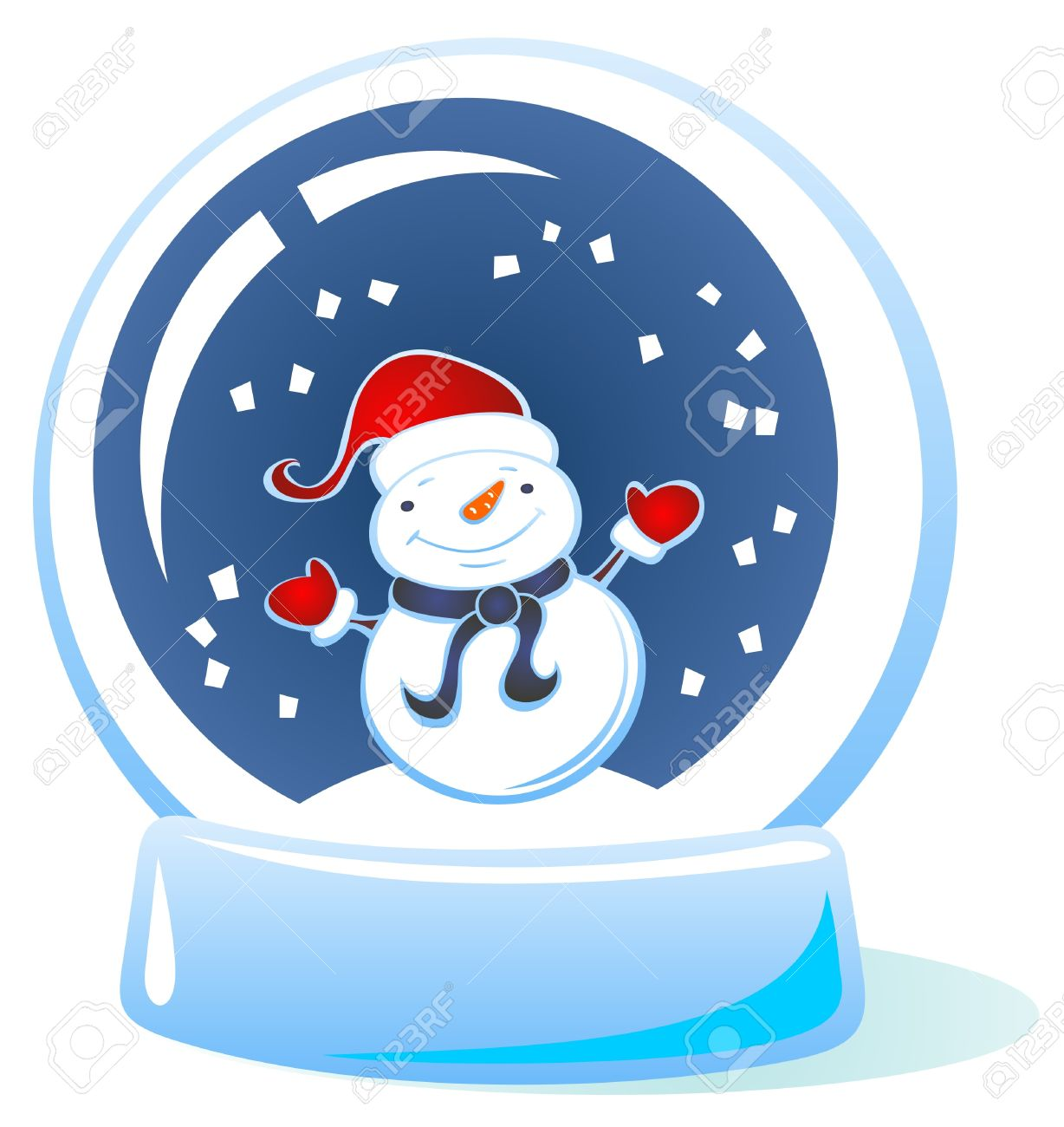 Snowman Snow Globe 2222 Snowglobe Stock Illustrations Cliparts And Royalty Free