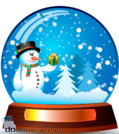 Snowman Snow Globe Clipart.