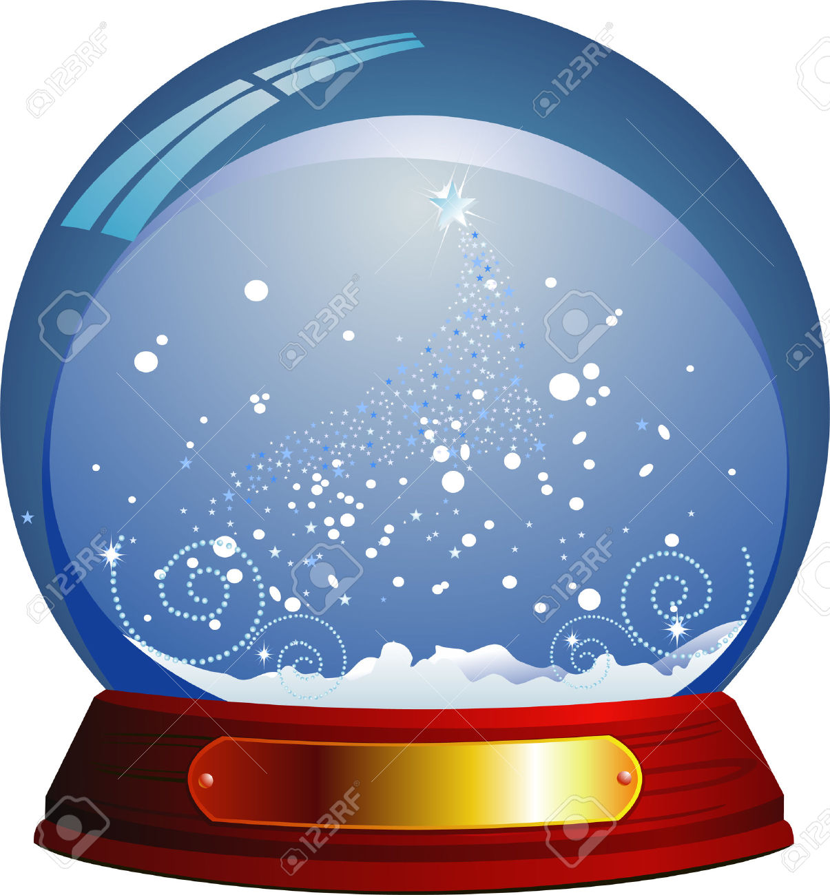 Snow Globe Live Clipart.