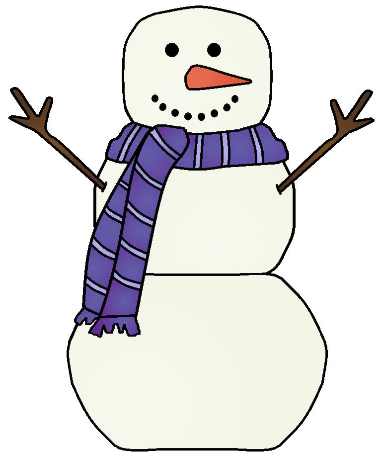 Snowman clipart 7.