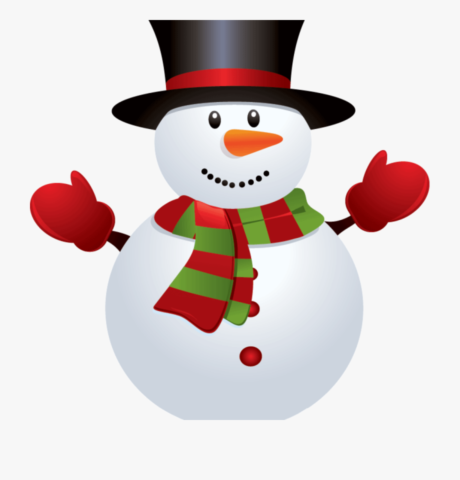 Royalty Free Cute Snowman Clipart.