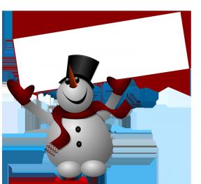 Snowman With A Guitar Clipart.