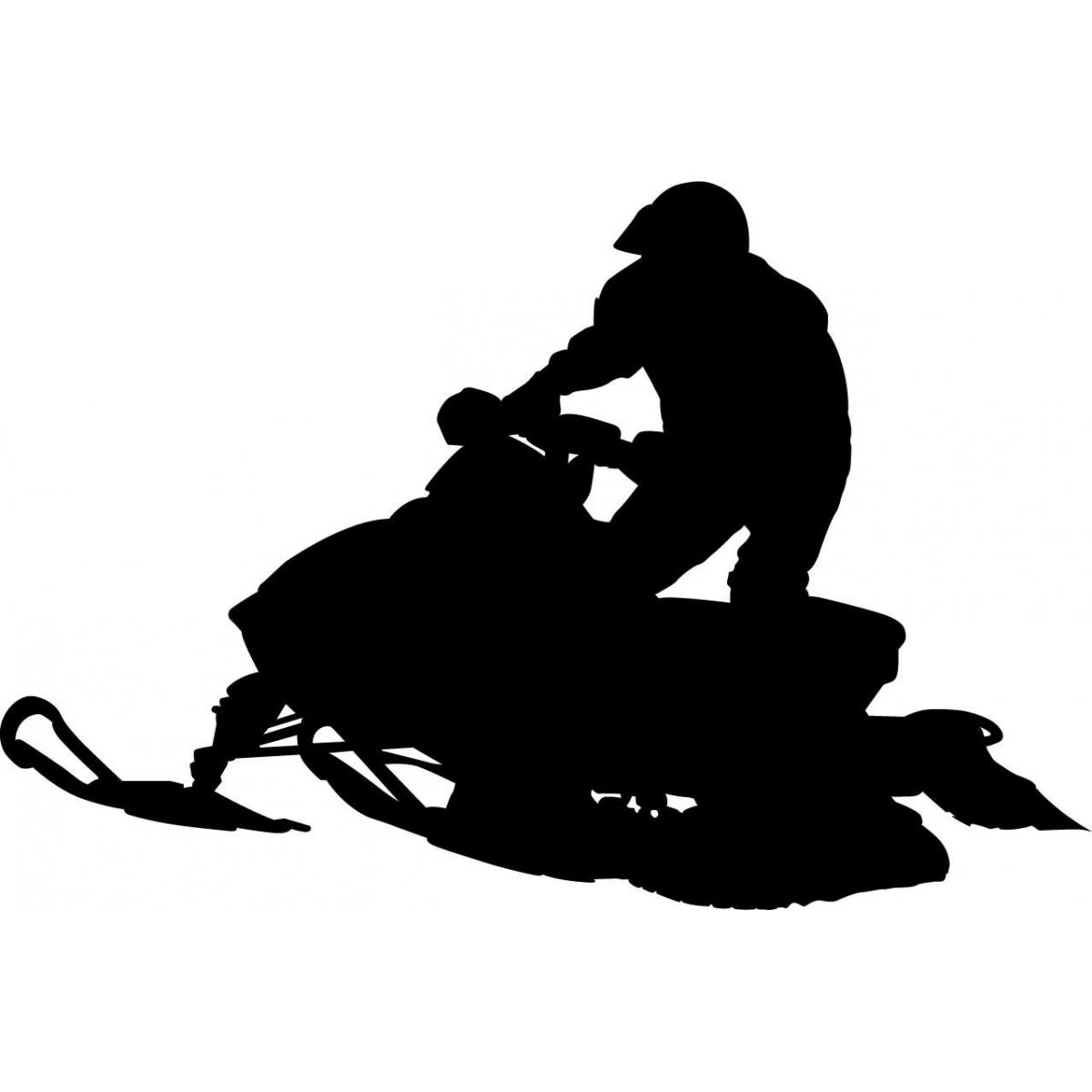 Silhouette snowmobile clipart.