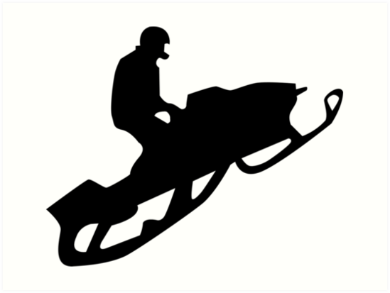 """snowmobile silhouettes"""" Art Prints by asyrum."""