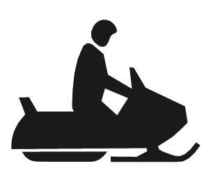 Free snowmobiling Clipart.
